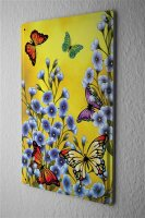 Tin Sign Flower Shop Decoration  colorful butterflies...