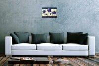 Blechschild Fantasie Bild Motiv Lila bemalte Kugeln Wurzeln Deko Metall Schild 20X30 cm