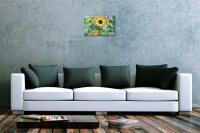 Blechschild Pflanzen Deko gelbe Sonnenblumen Metall Wand Schild 20X30 cm