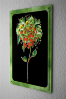 Tin Sign Fantasy Motif  Fantasy flower with green frame...
