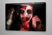 Tin Sign Fantasy  Gothic Ryn Jorgensen Woman with gun...