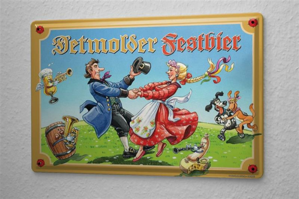 Tin Sign Beer Bar Pub Detmolder Pilsner Carnival Party Wall Vintage Decoration Metal Plate 8X12