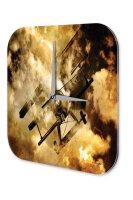 Travel Airport Decorative Wall Clock biplane Acrylglass