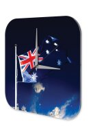 Wall Clock Holiday Travel Agency Australia flag Acrylglass