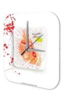 "Wall Clock human heart printed acryl plexiglass 10x10"""