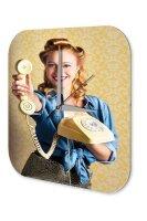 Wall Clock Retro Motif phone printed acryl plexiglass...
