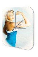 Sexy Girl Wall Clock anchor tattoo Printed Acryl Acrylglass