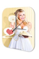Sexy Girl Wall Clock Telephone Handset heart Printed...