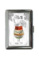 cigarette case tin Bar Party May Tai cocktail Print