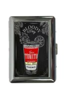 cigarette case tin Bar Party Bloody Mary recipe Print