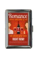 cigarette case tin Nostalgic Alcohol Retro Red wine Print