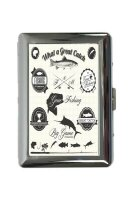 cigarette case tin Angler Home Great fishing Print Sport...