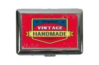 cigarette case tin Office Workshop vintage handmade Print...