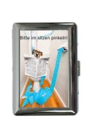 cigarette case tin Fun Kitchen Dog toilet Print