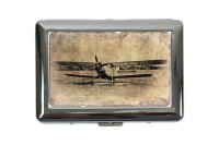 cigarette case tin Travel Airport rative Double Decker Print