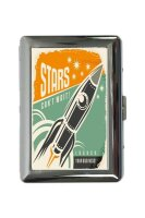 cigarette case tin Travel Airport rative Rocket Print