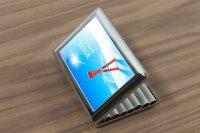cigarette case tin Retro Winter sports Print