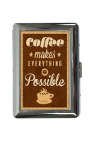 cigarette case tin Coffee Cafe Bar Coffee quote Print