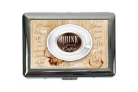 cigarette case tin Coffee Cafe Bar drink coffee Print