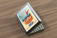 cigarette case tin Coffee Cafe Bar Here coffee Print