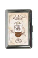 cigarette case tin Coffee Cafe Bar Ice coffee Print