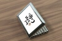 cigarette case tin Coffee Cafe Bar but first coffee Print
