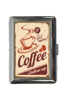 cigarette case tin Coffee Cafe Bar Coffee Print
