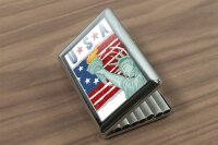 cigarette case tin Holiday Travel Agency USA patriotism...