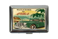 cigarette case tin Holiday Travel Agency Cuba Print