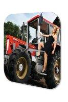 Wall Clock Pin Up Adult Art Evening dress tractor Acryl...