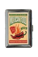 cigarette case tin Nostalgic Fun Mexican Food Print