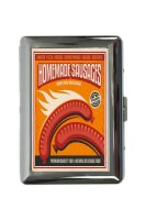 cigarette case tin Kitchen Sausages Print