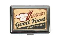 cigarette case tin Retro Good food Print