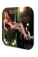 Sexy Girl Wall Clock Lingerie tractor Printed Acryl...