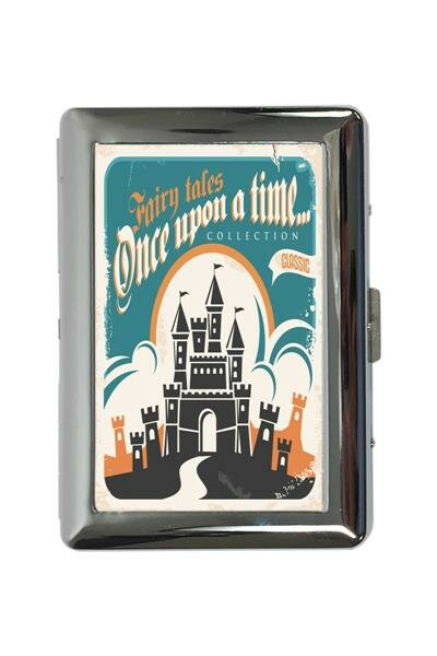 cigarette case tin Tale Once upon a time Print Vintage