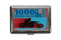cigarette case tin Motorcycle Garage 1000 miles race Print