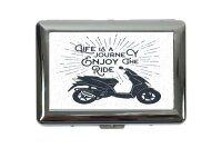 cigarette case tin Motorcycle Garage Enjoy ride Print