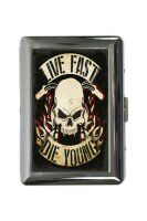 cigarette case tin Garage Live Fast Die Young Print