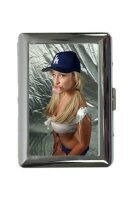 cigarette case tin Pin Up Adult Art Chewing gum Print