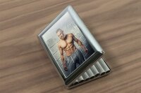 cigarette case tin Sexy Fun rative muscle man Print