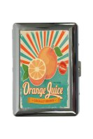 cigarette case tin Nostalgic Orange juice Print