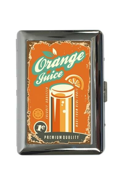 cigarette case tin Soda Soft Drink orange juice Print
