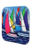 Wall Clock Holiday Travel Agency Sailing ships regatta...