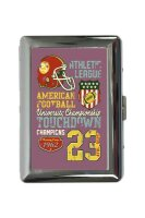 cigarette case tin Fun American football Print