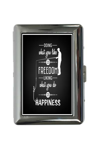 cigarette case tin Nostalgic Motif Happiness Print