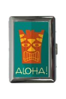 cigarette case tin Fun Aloha Print