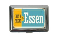 cigarette case tin Retro Art Metropole Essen Germany Print
