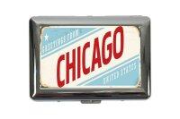 cigarette case tin City Chicago USA Print