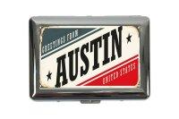 cigarette case tin City Austin USA Print