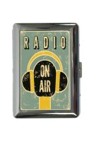 cigarette case tin Retro radio on air Print